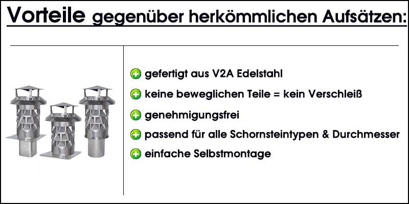DN 130 Silikon Nischenmarkt Kaminaufsatz//Schornsteinaufsatz//Kaminabdeckung Kaminkraft Edelstahl